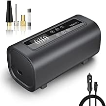 YANTU Air Compressor Portable Heavy Duty Double Cylinders Tire Inflator, Wired DC 12V Electric Car Air Pump, 150Psi Digital tire pump for Car tires, Truck, SUV Tires, Dinghy, Air Bed, Auto Shut-Off