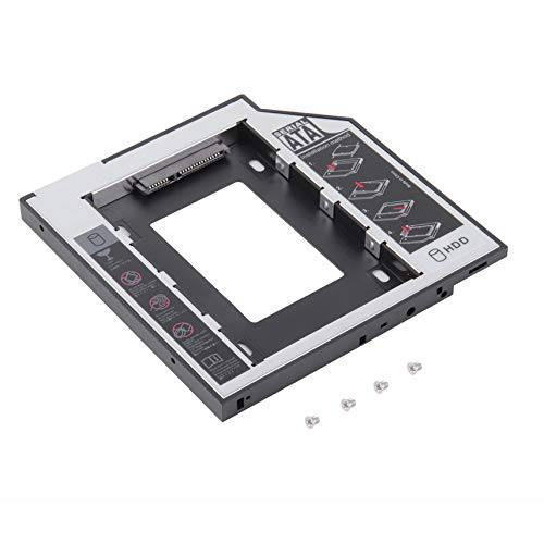 Universal Aluminum SATA Second HDD SSD Hard Drive Caddy with 4 Screws For CD/DVD-ROM Optical Bay Adapter