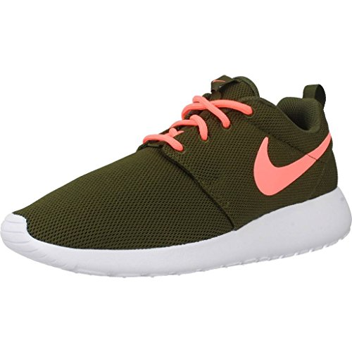 Nike Damen WMNS Roshe One Sneakers, Grün (Legion Green/Lava Glow/White), 36 EU