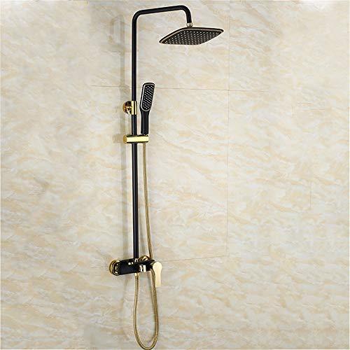 MOODSC Set de ducha de pintura dorada negra para baño Grifería moderna...