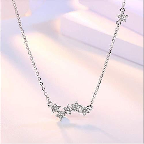 RKWEI Ohrringe Simulation Diamant Überzogene Silberne Halsketten-Anhänger Verbundene Liebe Spielt Glänzende Art- Und Weisehalsketten-Weibliche Zusätze Die Hauptrolle