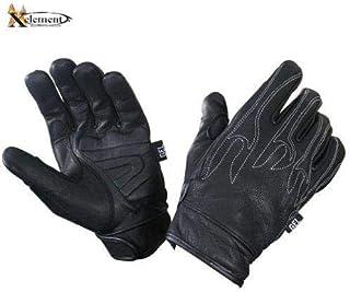 Xelement XG690 Men`s Black Leather Naked Motorcycle Gloves - Small