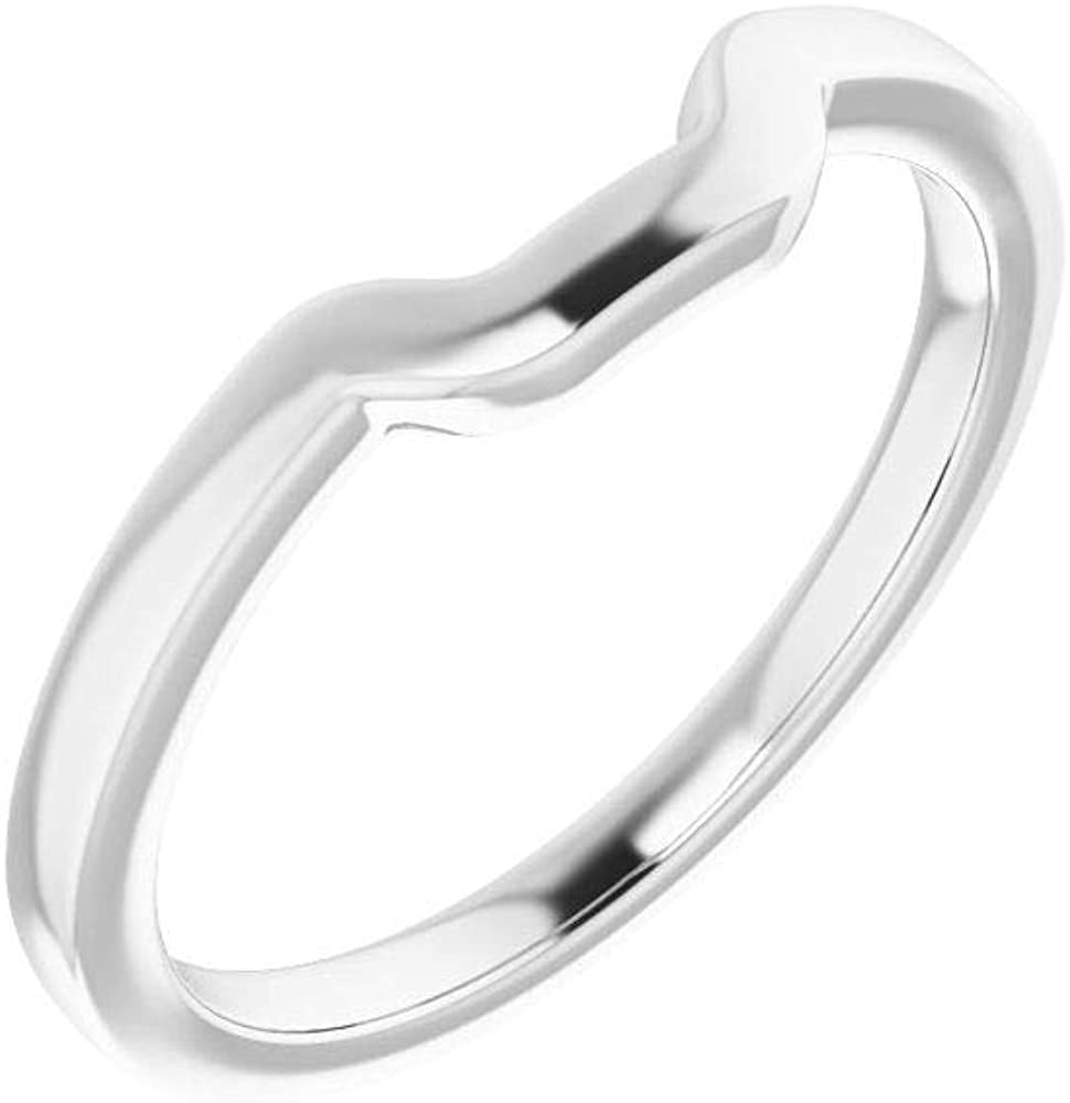 Solid Max 41% OFF 10K White Gold Curved Notched Wedding famous Eme 9 for Band 7mm x