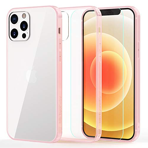 b1b byoneby iPhone 11 Pro Case[Tempered Glass Screen Protector][Anti-Scratch][Anti-Yellow], 5.8-inch,Ultra Slim Crystal Clear Hard PC Back Flexible Rubber Shockproof Bumper Air Cushion Cover