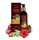 Innila Red Onion Shampoo with Aloe-Vera, Hibiscus Extract, Reetha,Coffee Extract,Sheekakai,Coconut Extract,Vitamin E - All Hair Types (SLS & Paraben Free)