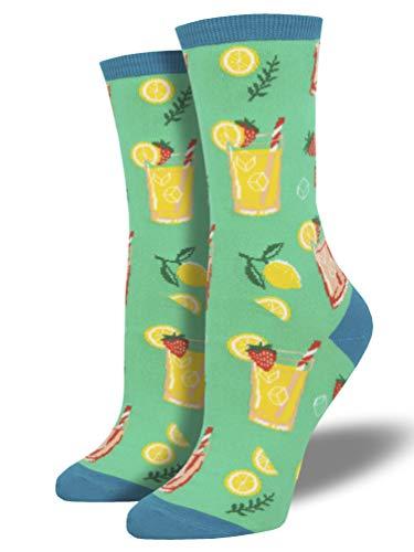 Socksmith Damen Socken Mit Bunten Lustigen Motiven Einheitsgröße (Easy Peasy Lemon Squeezy, Einheitsgröße)