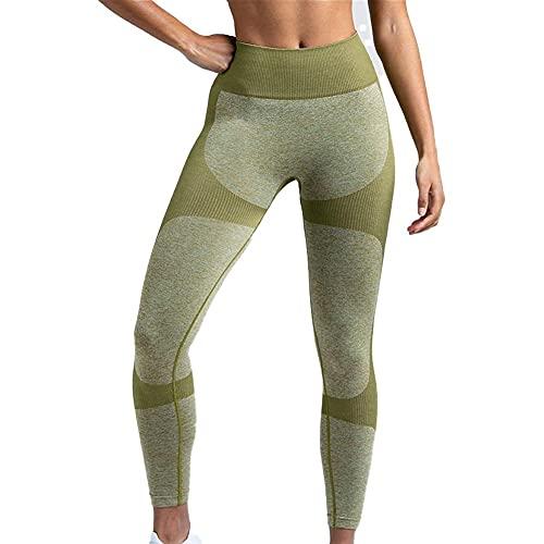WFIT Fitness Leggings di Sport Corsa Butt Donne di Sollevamento di Yoga Pantaloni a Vita Alta Green Light S
