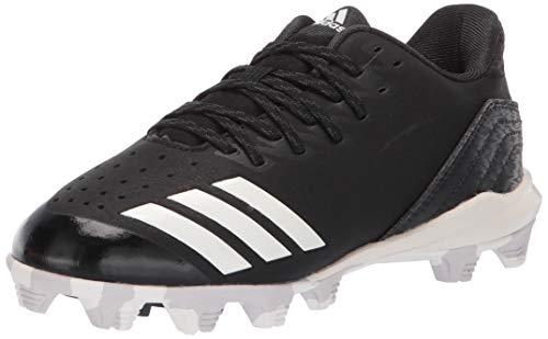 adidas Kids Unisex's Icon 4 MD Cleats Baseball Shoe, Black/Cloud White/Carbon, 10K M US Big Kid