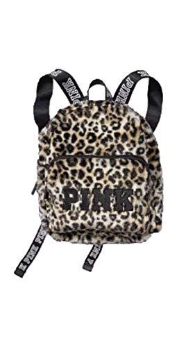 Victoria's Secret Mini Backpack Pink Leopard Faux Fur Animal Print