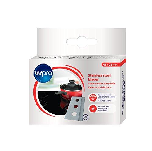 wpro Lames de rechange BLA014 - Pour plaques vitrocéramiques - 10 lames
