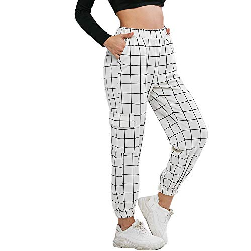 ZAFUL - Pantalones de camuflaje para mujer Blanco. S