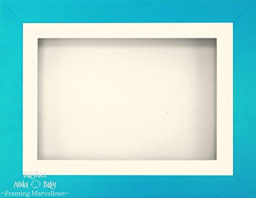 Anika-Baby 29,2 x 21,6 cm Bleu effet 3d Cadre d'écran/1 trou Passe-partout crème