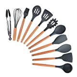 PPuujia Utensilios de cocina de silicona utensilios de cocina antiadherentes (color: 11 piezas, tipo de kit: más de cinco piezas)