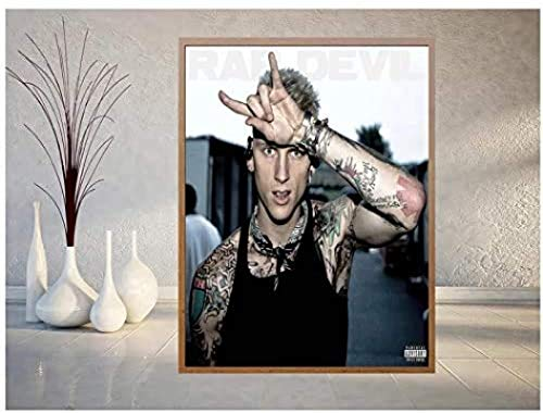 XIANGLL MGK Rapper Album Cover Poster and Print Wall Art Picture Painting Home Decor Print On Canvas 20X28 Inch No Frame
