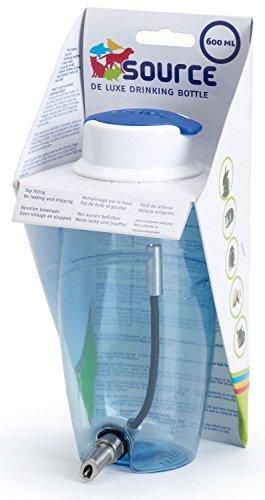 Trinkflasche Nagertränke Kleintiertränke Nippeltränke Source 600 ml blau