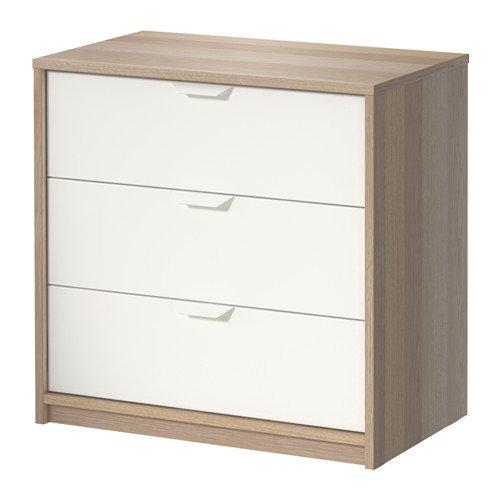 Ikea Askvoll - Cómoda de 3 cajones - 70x68 cm