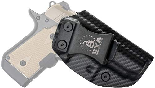 CYA Supply Co. Fits Kimber Micro 9 Inside Waistband Holster Concealed Carry IWB Veteran Owned Company (Carbon Fiber, 027- Kimber Micro 9)