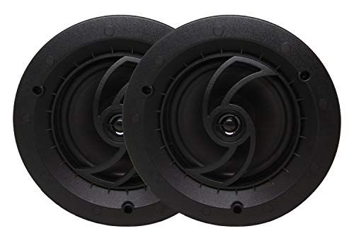 Sale!! Heritage Acoustics CS-600 in-Ceiling / in-Wall Speaker, Bezel-Less Grille, 6.5″ Poly Cone, .50″ Pivoting PEI Dome Tweeter (Pair)