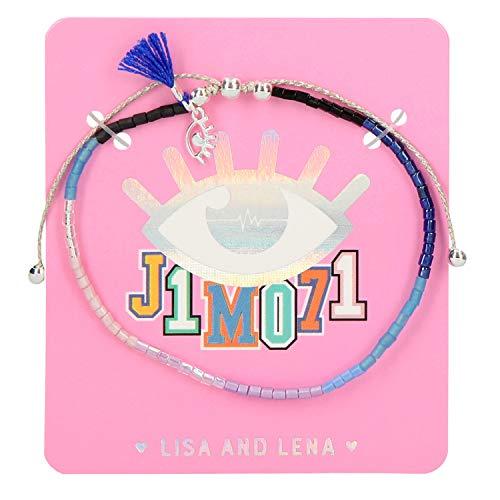 Depesche 10523 Perlenarmband Lisa und Lena J1MO71, ca. 16 cm, Sortiert, bunt