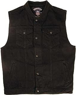 Legendary USA Men's Revolution Black Denim Motorcycle Vest - Made in USA
