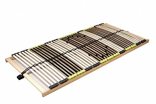 DaMi Lattenrost Relax 90 x 200 cm – 7 Zonen Lattenrahmen aus Buche mit 6-Fach Härteverstellung – Starr