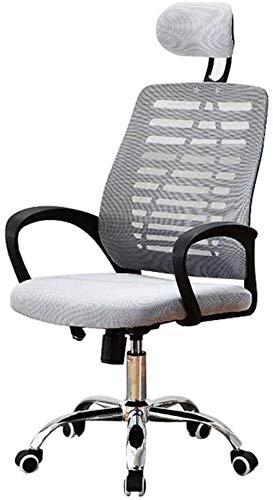 Computerstoel Verstelbare bureaustoel met verstelbare lendensteun - Hoge rug Verdikking Spons Zitkussen Verstelbare zithoogte