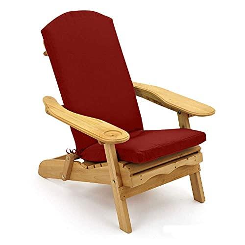 Trueshopping Red Adirondack Garden Chair Cushion Padded Outdoor Cushion for Garden & Patio Chair Loungers (Cushion Only)