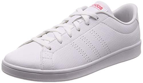 adidas Advantage Clean Qt Zapatillas de Tenis Mujer, Blanco (Ftwr White/Ftwr White/Shock Red Ftwr White/Ftwr White/Shock Red), 44 EU (9.5 UK) 🔥