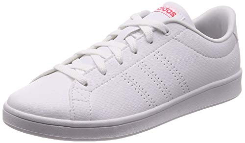 adidas ADVANTAGE CLEAN QT, Damen Tennisschuhe, Weiß (Ftwr White/Ftwr White/Shock Red), 42 EU (8 UK)