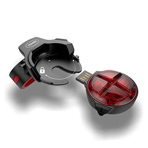Fahrradrücklichter,Intelligente Fahrradbeleuchtung Led Rücklicht Bremse Induktion Kreative Praktische Sicherheit Warnung Rücklicht Lampe Fahrrad Fahrradzubehör