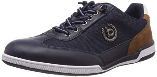 bugatti Herren 321726035900  Niedrig Sneaker,  Blau,  45 EU