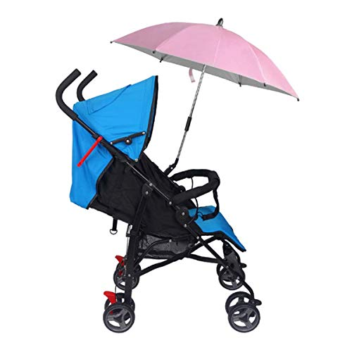 Parag/üero para cochecito Negro 360 /° Ajustable Paraguas para bicicleta Soporte para montaje en estiramiento Cochecito para beb/é Silla de paseo de ruedas Accesorios para sillas