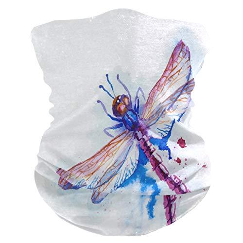 Funnyy Watercolor Dragonfly Birds Headwear cuello polaina, pañuelo bandana, pasamontañas, cubierta para el polvo, sin costuras, mágico, pañuelo para la cabeza, multifuncional, diadema para deportes al aire libre