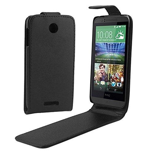 ZAORUN Cubiertas Protectoras de Cellphone Funda de Cuero de PU de Hebilla magnética de Tapa Vertical Compatible for HTC Desire 510