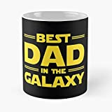 Best Dad In The Galaxy Classic Mug - 11 Ounce For Coffee, Tea, Cocoa And Mulled Drinks, The Best Gift Holidays