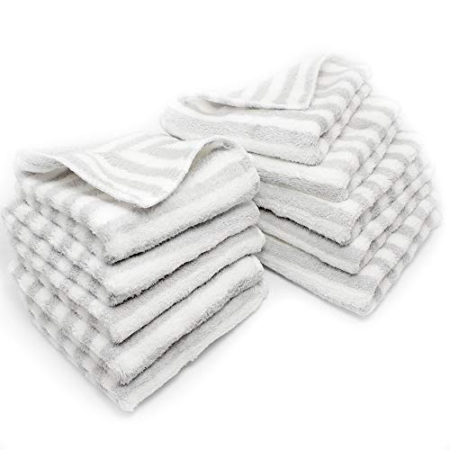 Charmsong 10 Pack Dishcloth Eco-Friendly No Odor Reusable Cleaning Cloths 10 x 10 Inch Soft and Absorbent Grey Polyester