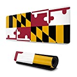 Mousepad Maryland Flag Gaming Mouse Pad XL Extended Large 3D Mouse Mat Vintage Sport Desk Pad...