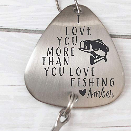 Fishing Gift for Husband I Love You More Than You Love Fishing Lure Anniversary Gift For Him Men's Fishing Lure Gift Valentines Gift Idea MORE-THAN-LURE