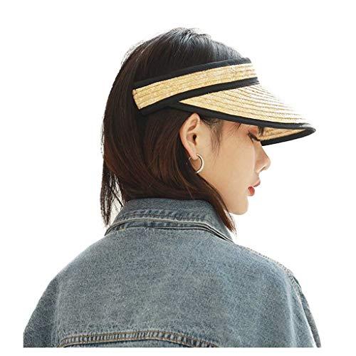 Grass Top Hat Summer Lafite Female Net Red Travel Sombrero de Paja Versión Coreana de The Wild Empty Top Sun Hat Gorra Protectora
