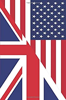 British American Journal: British American Flag Notebook   Patriotic American Flag Composition Book   Wide Ruled 120 Pages...