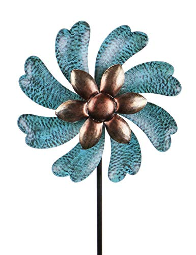 MUMTOP Wind Spinner 45' Wind Sculptures for Patio Lawn and Garden Let You Feel Different Visual Effects and Relax Your Mood (Cyan)