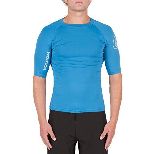 Volcom Herren T-Shirt Lido Solid Surf Lycra T-Shirt, Deep Water, M, N0111700DEP