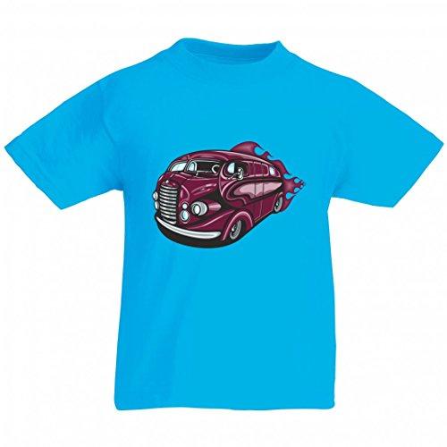 Camiseta de viaje Hotrod en lila estilo antiguo con llamas America Amy USA Auto Auto Luxus Ampliación V8 V12 Motor Llanta Tuning Mustang Cobra para hombre mujer niños 104 – 5 x l azul Para Hombre Talla : Medium