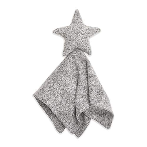 aden + anais Snuggle Knit Star Baby Lovey Comfort Item, Super Soft and Stretchy Security Blanket, Heather Grey