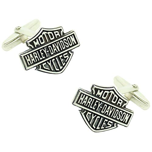 MasGemelos Weitere Manschettenknöpfe - Harley Davidson Manschettenknöpfe Sterling Silber 925 Manschettenknöpfe