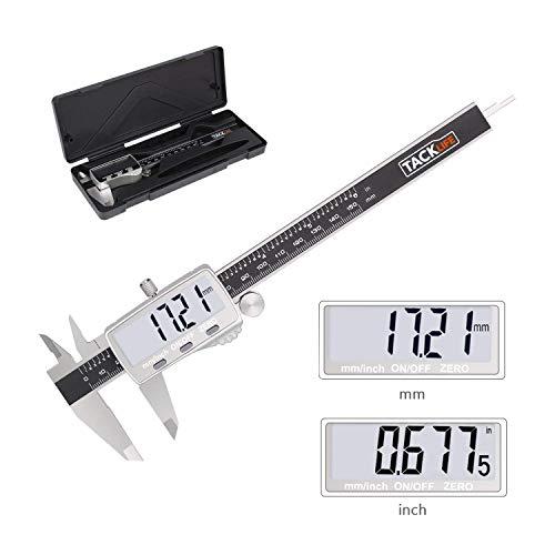 Calibre Digital, Tacklife DC02 Pie de Rey 150mm,Calibrador electrónico de acero...