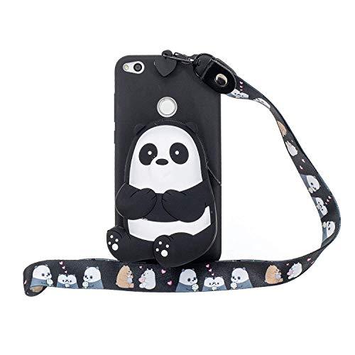 HongYong Funda Carcasa para Huawei P8 Lite (2017) Carcasa Suave Trasera 3D Dibujos Animados Panda Candy Color Girly Bear Diseño Delgado Flexible Protectora Bumper para Niñas Dibujos Animados Panda