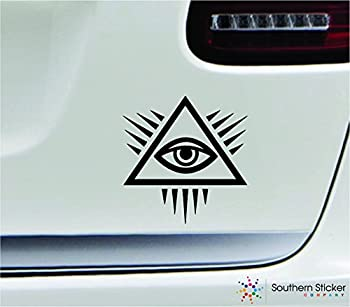Mason Pyramid Eye 3.9x4 Black Eye of Providence god Religion US Dollar Bill United States Color Sticker State Decal Vinyl - Made and Shipped in USA