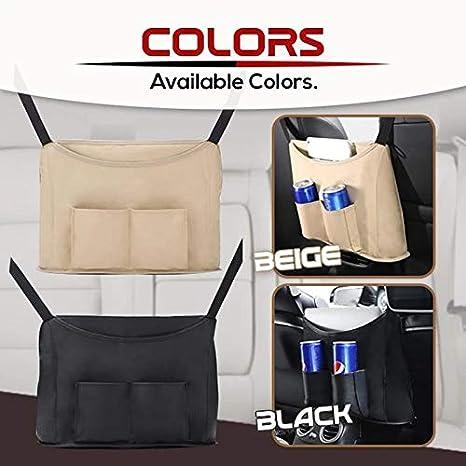 Handbag Holder Syfinee Upgraded Leather Car Net Pocket Handbag Holder Multifunction Hanging Storage Bag Car Storage for Purse /& Pocket for Smaller Items
