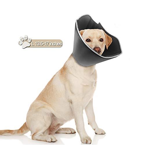 Pupcone Hundehalsband-Operation, weicher Kegel zum Schutz der Wundheilung von Hunden, Large, schwarz